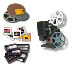 Transfer film and video to DVD.
