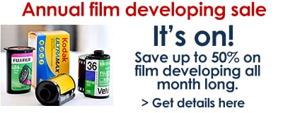 Film developing sale all month long.